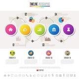Plantilla del diseño de Infographics de la cronología Foto de archivo libre de regalías