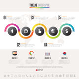 Plantilla del diseño de Infographics de la cronología Imágenes de archivo libres de regalías