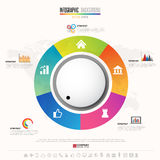 Plantilla del diseño de Infographics de la cronología Fotografía de archivo
