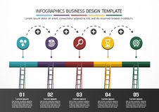 Plantilla del diseño de negocio de Infographics Fotos de archivo libres de regalías