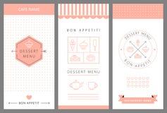 Plantilla del diseño de tarjeta del menú del postre Imagen de archivo libre de regalías