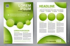 Plantilla del diseño a4 del folleto Imagen de archivo libre de regalías