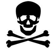 Plantilla del diseño del logotipo del vector de Jolly Roger humano Fotografía de archivo libre de regalías