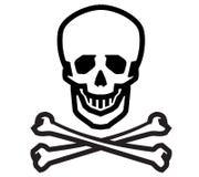 Plantilla del diseño del logotipo del vector de Jolly Roger humano Imagenes de archivo