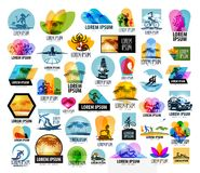 Plantilla del diseño del logotipo del vector del viaje vacaciones o Foto de archivo