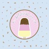 Plantilla del diseño del vector de la cubierta del menú del helado del restaurante Fotos de archivo