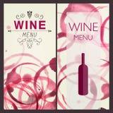 Plantilla del diseño del vino Fotos de archivo