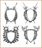 Plantilla del escudo de armas Imagenes de archivo
