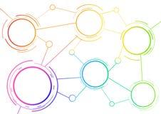 Plantilla del esquema con los círculos del arco iris Ilustración del Vector