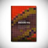 plantilla del folleto Imágenes de archivo libres de regalías