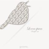 Plantilla del folleto con el pájaro estilizado Foto de archivo libre de regalías