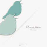 Plantilla del folleto con el pájaro estilizado Fotos de archivo libres de regalías
