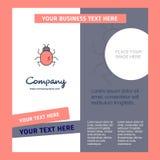 Plantilla del folleto de Bug Company Plantilla de Busienss del vector stock de ilustración
