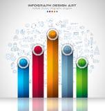 Plantilla del folleto de Infograph con muchas opciones y muchos elementos del diseño ilustración del vector