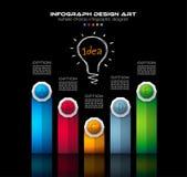 Plantilla del folleto de Infograph con muchas opciones y muchos elementos infographic del diseño stock de ilustración