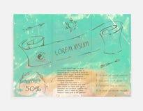 Plantilla del folleto de la playa del paraíso del vector Modelo del viaje Foto de archivo libre de regalías