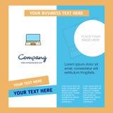 Plantilla del folleto de Laptop Company Plantilla de Busienss del vector stock de ilustración