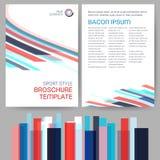 Plantilla del folleto del estilo del deporte del vector Imágenes de archivo libres de regalías