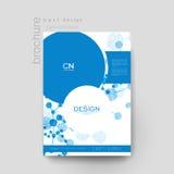 Plantilla del folleto del vector de la molécula de la DNA Disposición del aviador Imagenes de archivo