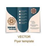 Plantilla del folleto o de la portada de revista del vector stock de ilustración
