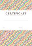 Plantilla del fondo colorido del certificado/del diploma stock de ilustración