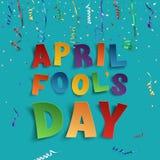 Plantilla del fondo de April Fools Day stock de ilustración