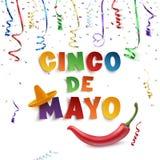 Plantilla del fondo de Cinco de Mayo Imagen de archivo libre de regalías