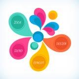 Plantilla del fondo de Infographics Foto de archivo libre de regalías