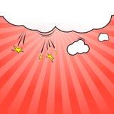 plantilla del fondo de la explosión de la nube del estilo del Estallido-arte Fotos de archivo
