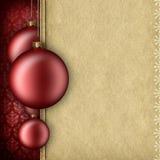 Plantilla del fondo de la Navidad - chucherías y espacio en blanco para el texto ilustración del vector