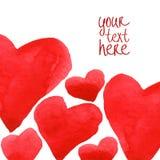 Plantilla del fondo de los corazones Foto de archivo libre de regalías