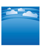 Plantilla del fondo del cielo y de las nubes Imagen de archivo