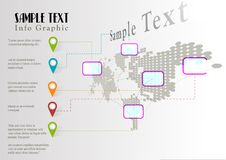 Plantilla del gráfico de la información del mundo del vector Imagen de archivo