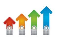 Plantilla del gráfico de negocio, flujo de succes, ejemplo con la copia Imagen de archivo libre de regalías