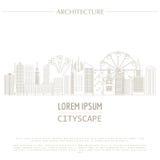 Plantilla del gráfico del paisaje urbano Configuración moderna de la ciudad ilustración del vector