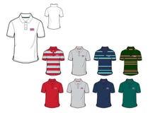 Plantilla del gran diseño del diseño de la camisa de Britten Mans Flag Polo Fotos de archivo