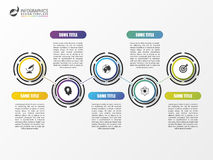 Plantilla del infographics de la cronología Diseño moderno colorido Vector Fotografía de archivo libre de regalías