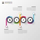 Plantilla del infographics de la cronología Modelo moderno del diseño del vector Ilustración del vector stock de ilustración