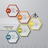 Plantilla del infographics de los pasos del extracto 5 Infographics para la presentación del negocio E Imagenes de archivo