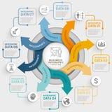 Plantilla del infographics del círculo de la flecha de 8 pasos Ilustración del vector Fotografía de archivo libre de regalías