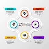 Plantilla del informe de Infographic con los iconos Concepto del asunto Vector Foto de archivo libre de regalías