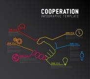 Plantilla del informe de Infographic del vector - cooperación ilustración del vector