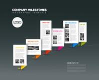 Plantilla del informe de la cronología de Infographic del vector libre illustration