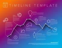 Plantilla del informe de la cronología de Infographic ilustración del vector
