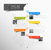 Plantilla del informe de la cronología de Infographic del vector Imagen de archivo