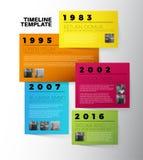 Plantilla del informe de la cronología de la tipografía de Infographic del vector Foto de archivo