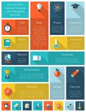 Plantilla del interfaz de la educación con infographics Foto de archivo libre de regalías
