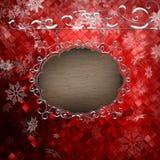 Plantilla del letrero de la Navidad EPS 10 Imágenes de archivo libres de regalías