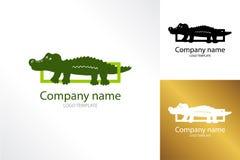 Plantilla del logotipo del cocodrilo Reptil del cocodrilo del logotipo Fotos de archivo libres de regalías