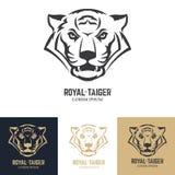 Plantilla del logotipo con la cabeza del tigre Imagen de archivo